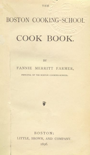 Boston Cooking School Cookbook